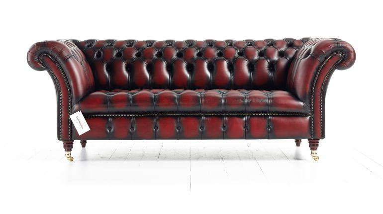 Классический кожаный диван Честерфилд