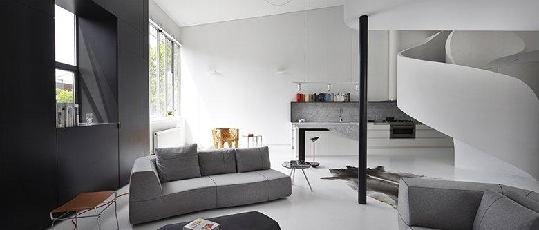 дизайн проект квартиры в стиле лофт в тбилиси