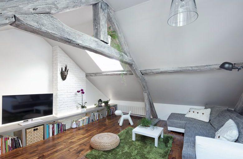 Дизайн проект квартиры мансарды