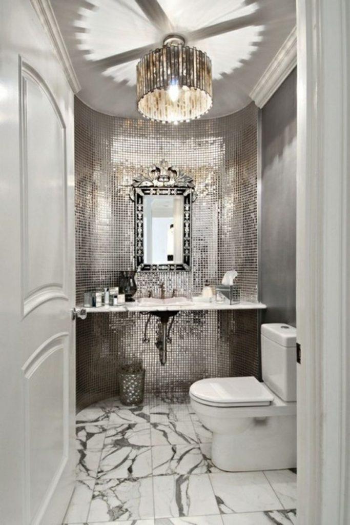 Гламурный интерьер ванной комнаты