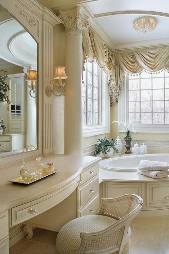 Гламурный интерьер ванной