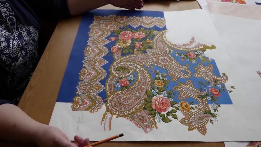 павлодарские платки с орнаментом турецкий огурец