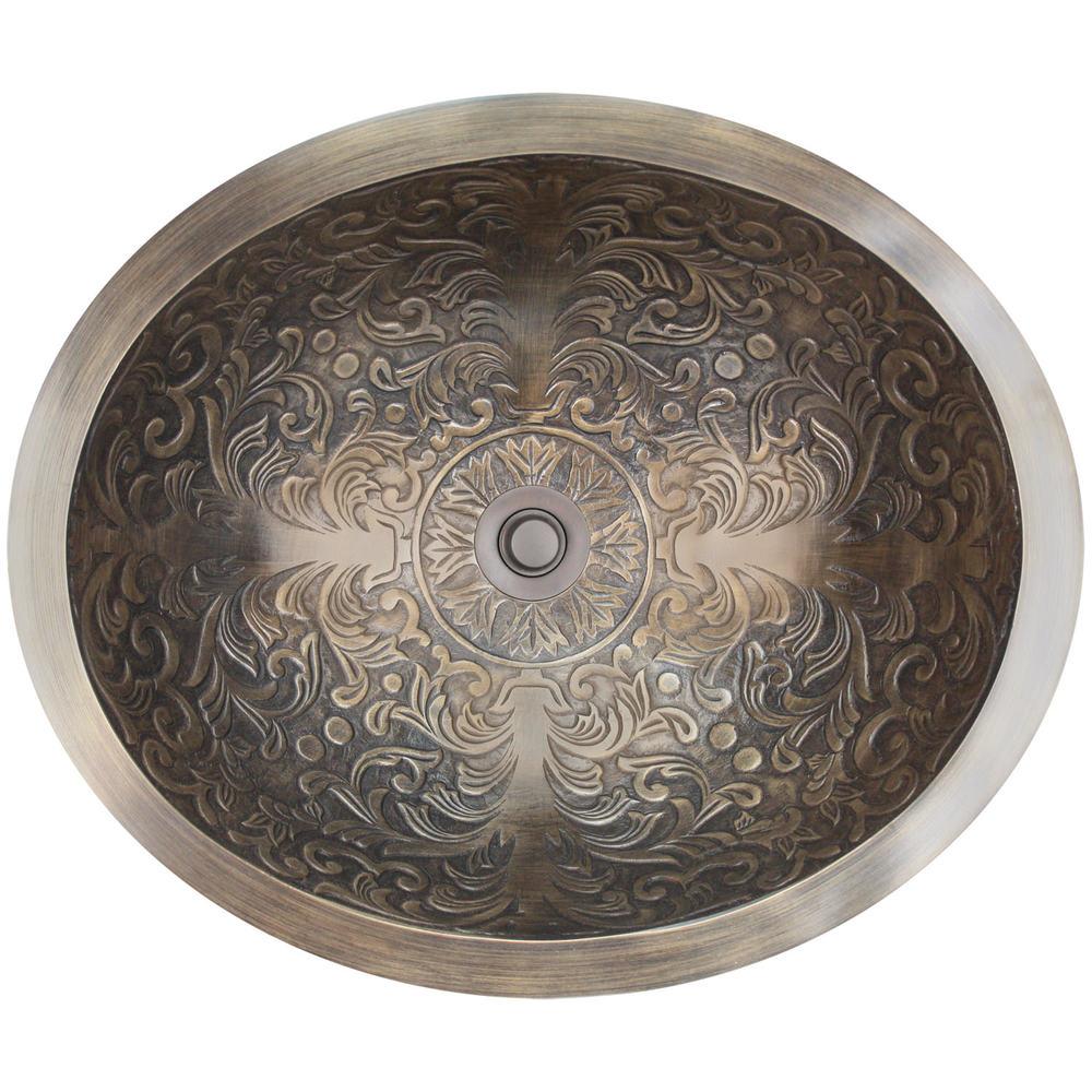 бронзовые раковины с фактурным дамасским орнаментом
